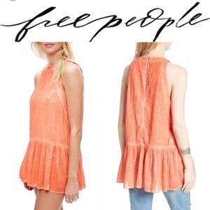 NWT Free People Breathless Moments Ruffled Dress